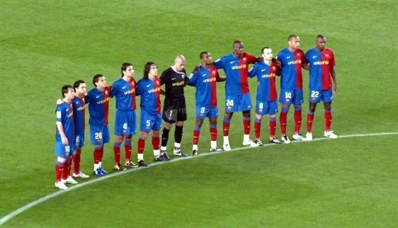 Pantallazo Alineación FC Barcelona