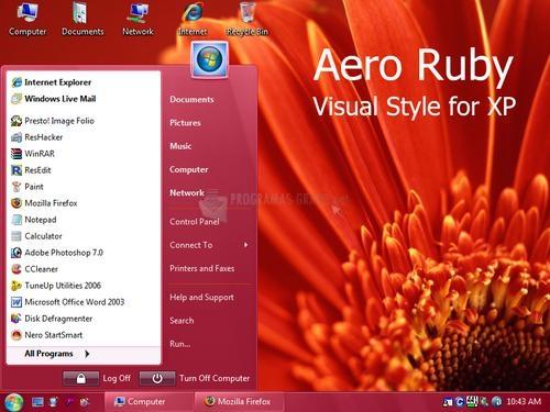Pantallazo Aero Ruby