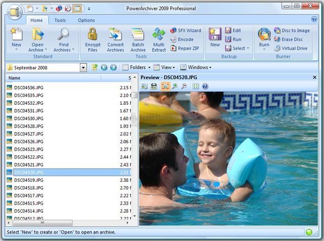 Pantallazo Power Archiver Deutsch 2009