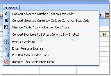 Pantallazo Excel Number