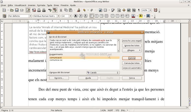 Pantallazo Diccionari català de sinònims
