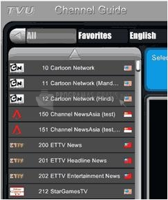 Pantallazo TVUPlayer Portable