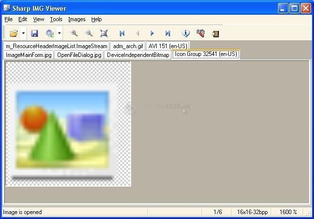 Pantallazo Sharp IMG Viewer 2008