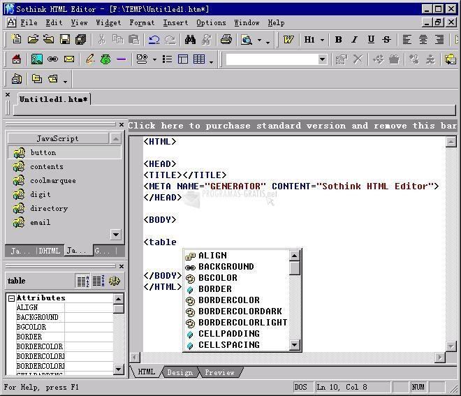 Pantallazo Sothink HTML Editor