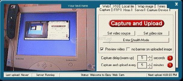 Pantallazo Easy Web Cam