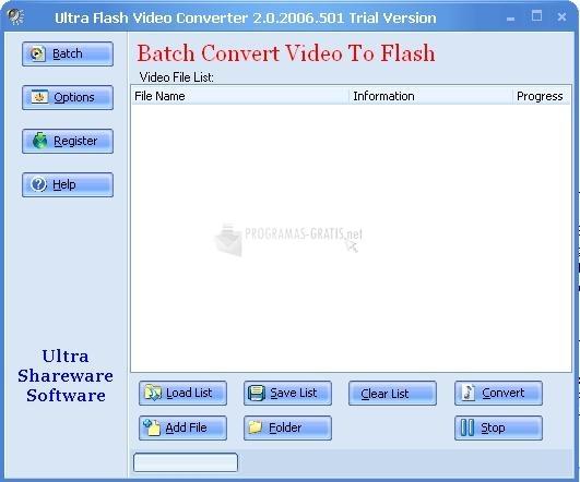 Pantallazo Ultra Video To Flash