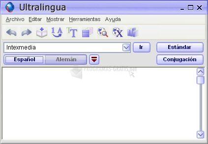 Pantallazo Ultralingua Spanish-German Dictionary