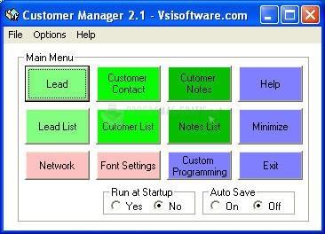 Pantallazo Customer Manager