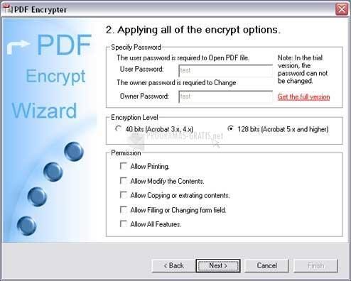 Pantallazo PDF Encrypt