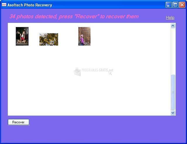 Pantallazo Asoftech Photo Recovery
