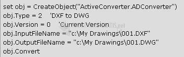 Pantallazo Active DWG DXF Converter ActiveX