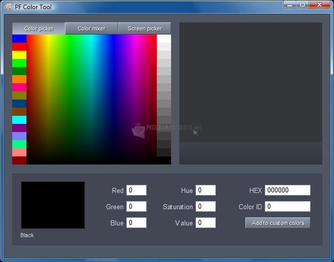 Pantallazo PF Color Tool