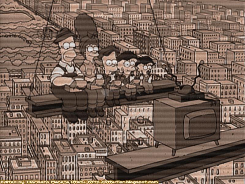 Pantallazo Simpsons en viga transversal