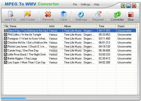 Pantallazo MPEG To WMV Converter