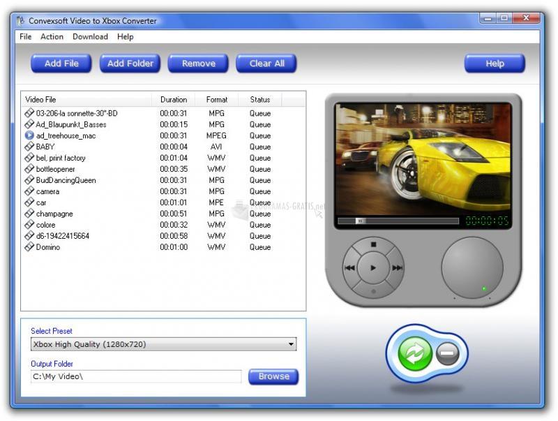 Pantallazo Video to Xbox Converter