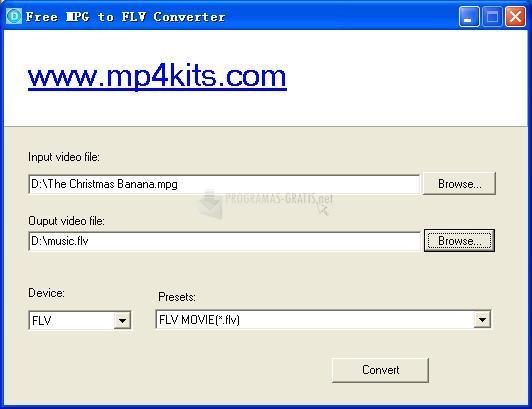 Pantallazo Free MPG to FLV Converter