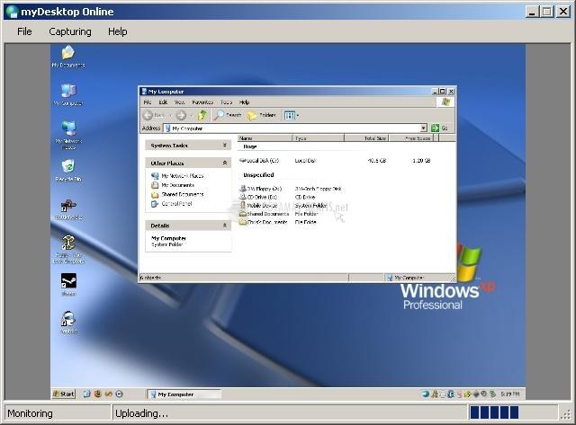 Pantallazo myDesktop Online