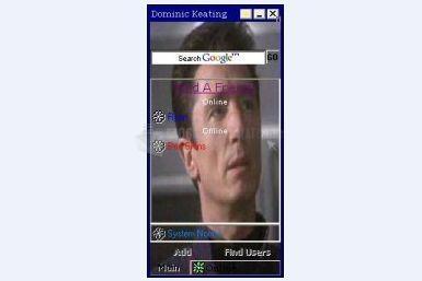 Pantallazo Dominic Keating ICQ Skin