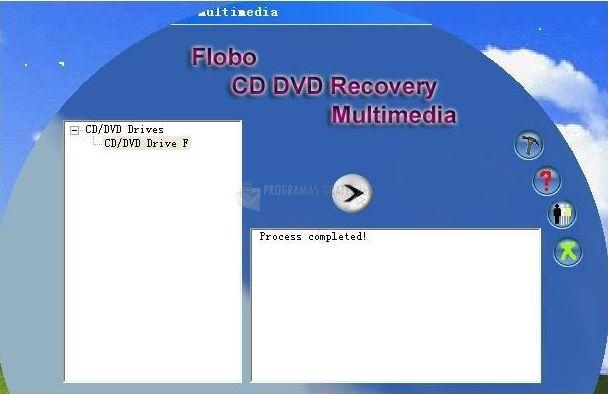 Pantallazo Flobo CD DVD Recovery Multimedia