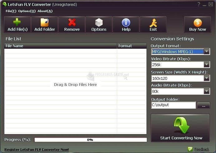 Pantallazo LetsFun FLV Converter