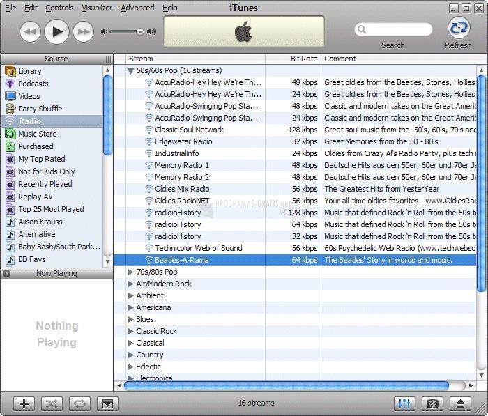 Pantallazo iTunes