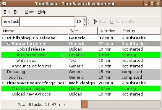 Pantallazo TimeSaver