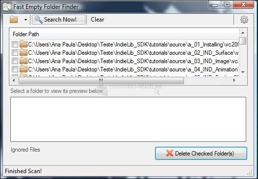 Pantallazo Fast Empty Folder Finder