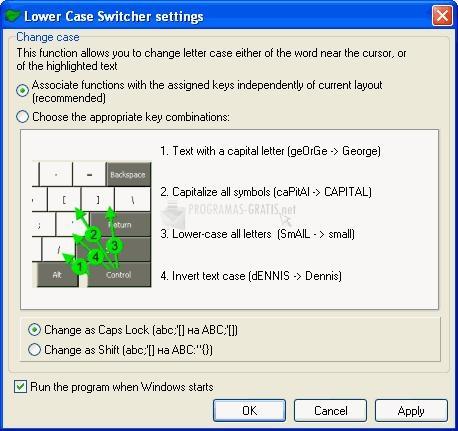 Foto Lower Case Switcher