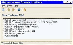Pantallazo Accent Keyword Extractor