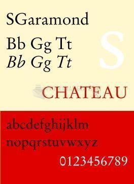 Pantallazo SGaramond Fonts