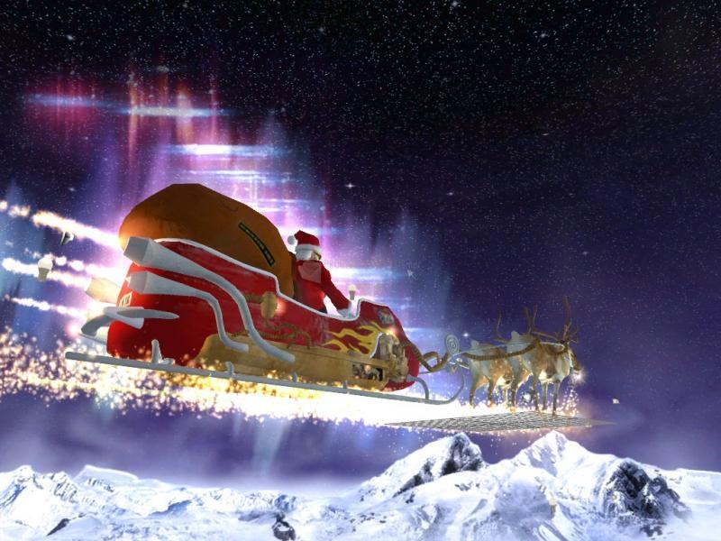 Pantallazo 7art Santa Voyage 3D ScreenSaver
