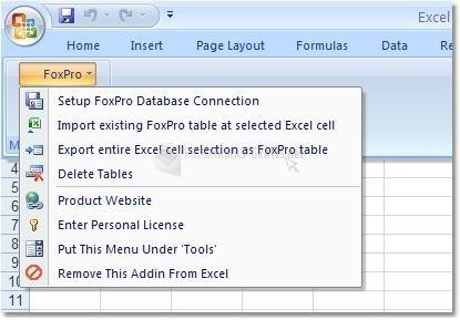Pantallazo Excel FoxPro