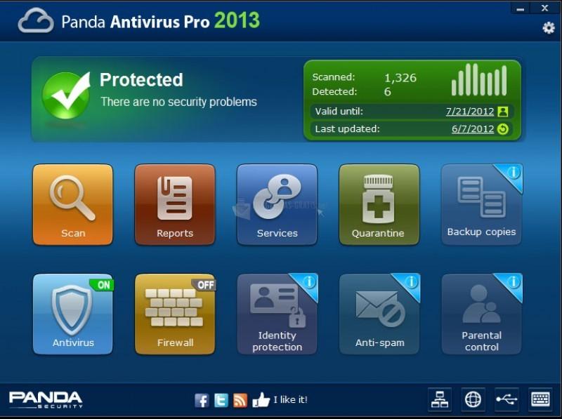 Pantallazo Panda Antivirus Pro