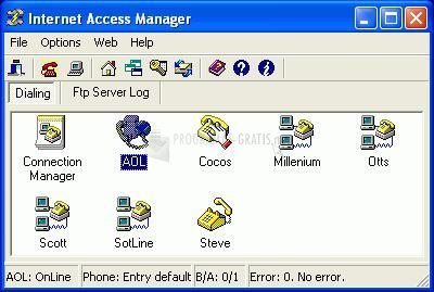 Pantallazo Internet Access Manager
