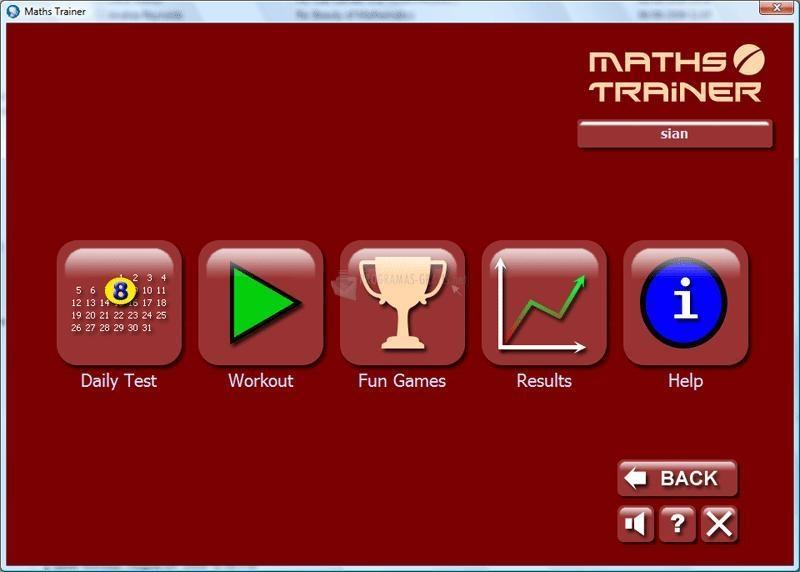 Pantallazo Maths Trainer