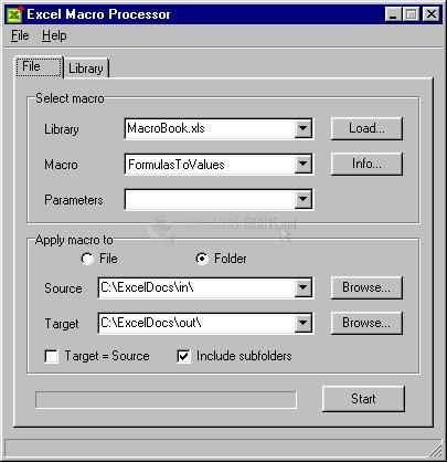 Pantallazo Excel Macro Processor