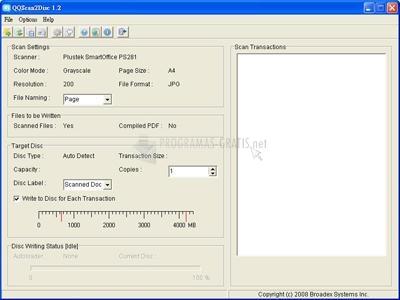Pantallazo QQScan2Disc