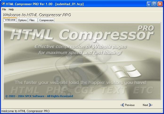 Pantallazo HTML Compressor Pro