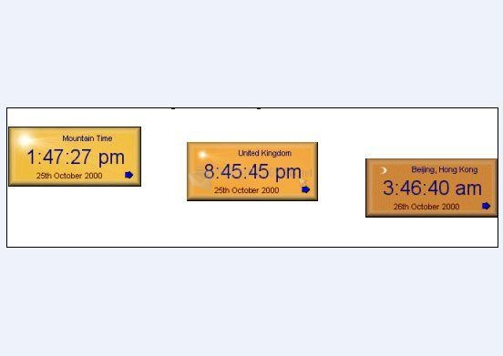 Pantallazo Time Zone Clock