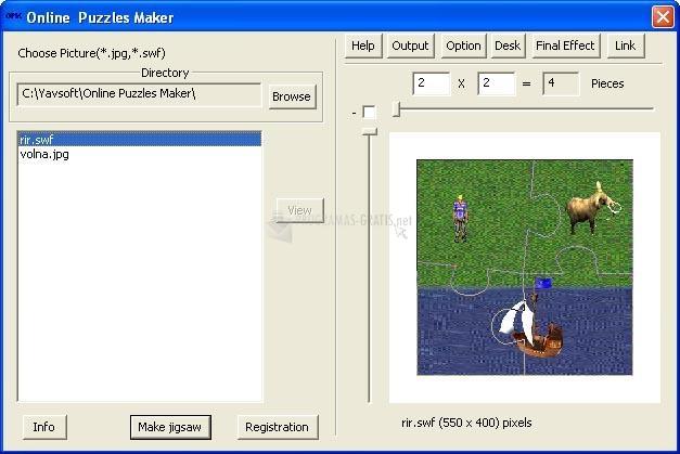 Pantallazo Online Puzzles Maker