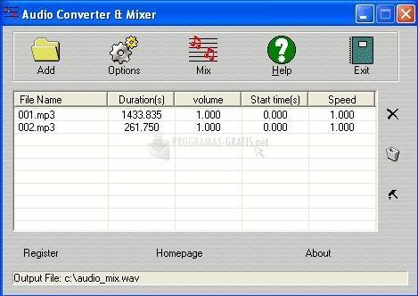 Pantallazo Audio Converter & Mixer