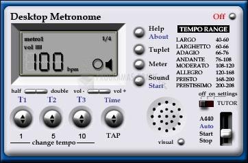 Pantallazo Desktop Metronome