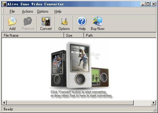 Pantallazo Alive Zune Video Converter