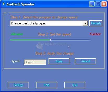 Pantallazo Asoftech Speeder