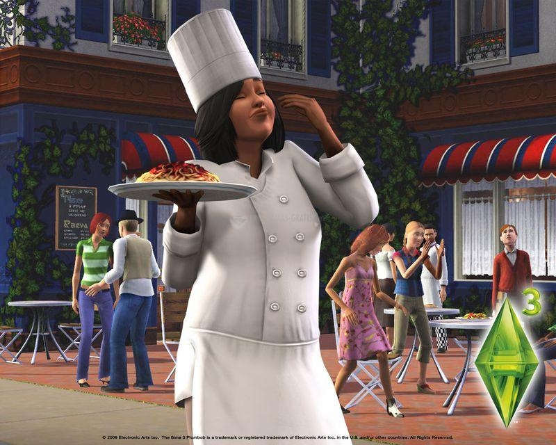 Pantallazo Los Sims 3: cocinera