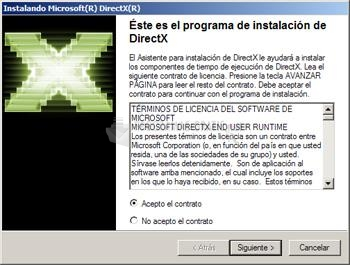 Pantallazo DirectX
