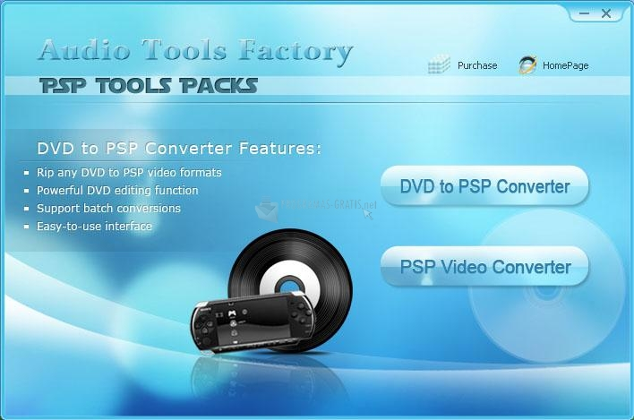 Pantallazo Shine PSP Tools Packs