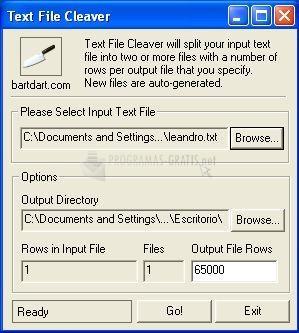 Pantallazo Text File Cleaver