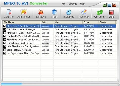 Pantallazo MPEG To AVI Converter