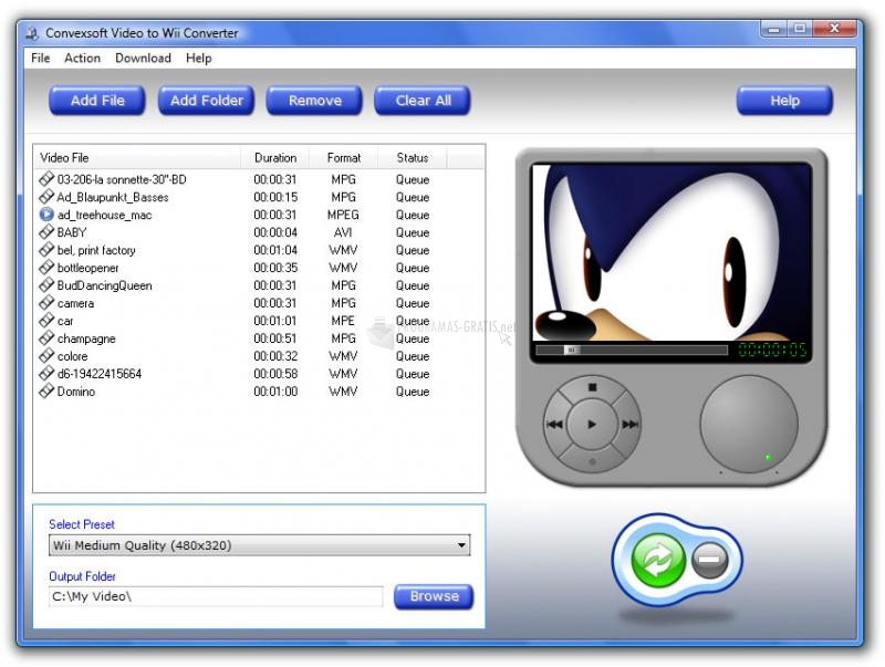 Pantallazo Video to Wii Converter